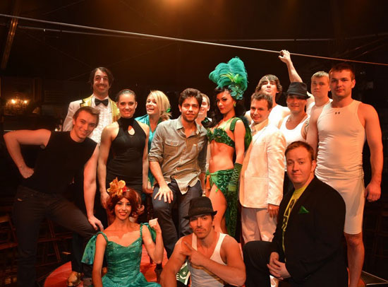 Adrian Grenier with the cast of Absinthe