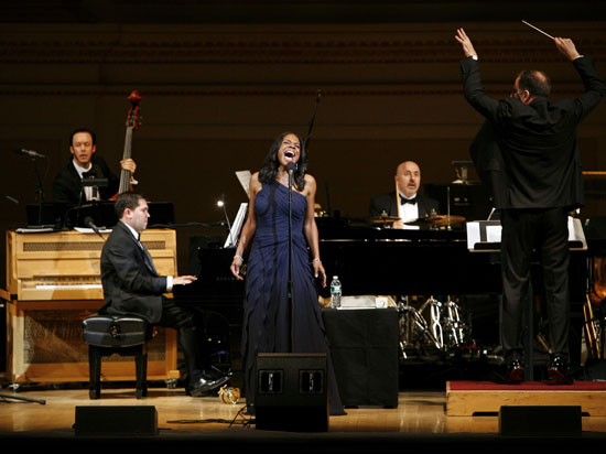 Audra McDonald and orchestra