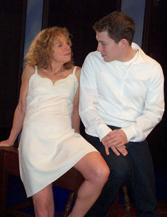 Judith McIntyre and Miguel Cervantesin The Gigolo Confessions of Baile Breag(Photo © Sugan Theatre Company)