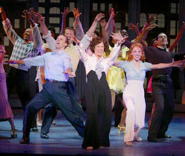 Noah Racey, Karen Ziemba, Nancy Lemenager,and cast in Never Gonna Dance(Photo © Joan Marcus)