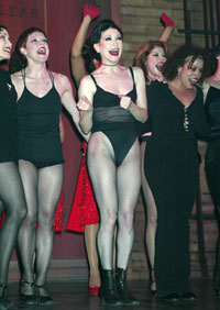 Bebe Neuwirth and company inNothing Like a Dame 2003(Photo © Joseph Marzullo)