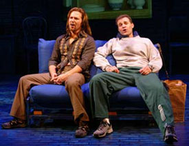 Ron Bohmer and Marc Kudischin The Thing About Men(Photo © Carol Rosegg)
