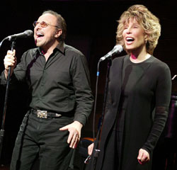 Barry Mann and Cynthia Weil in They Wrote That?(Photo © Joan Marcus)
