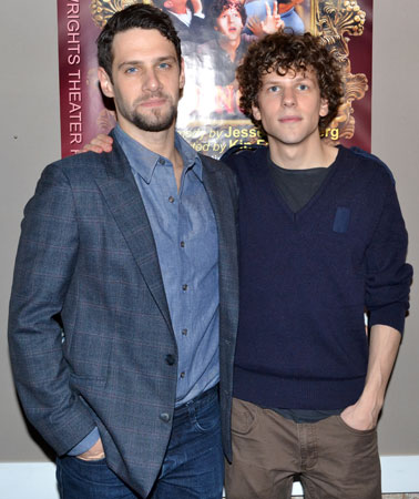 Justin Bartha and Jesse Eisenberg