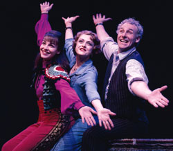 Tammy Blanchard, Bernadette Peters,and John Dossett in Gypsy(Photo © Joan Marcus)