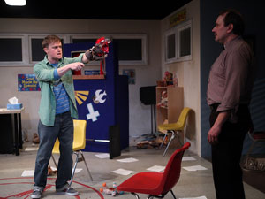 Steven Boyer and Scott Sowers in Hand to God (© Gerry Goodstein)