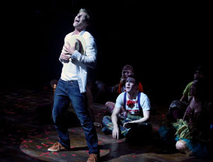 Hunter Parrish and company in Godspell