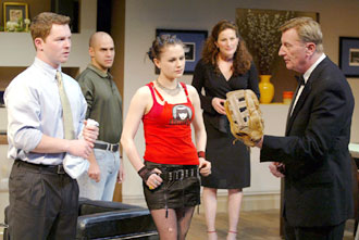 Shawn Hatosy, Mark Setlock, Anna Paquin, Ana Gasteyer, andLarry Bryggman in Roulette(Photo © Carol Rosegg)