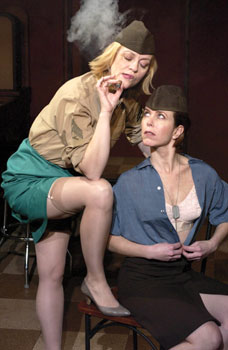 Jane Blass and Julia Neary in Pulp(Photo © Michael Brosilow)