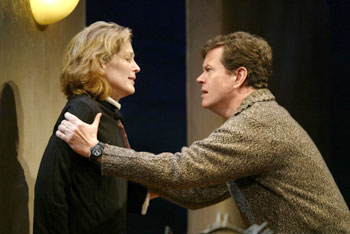 Patricia Kalember and Dylan Baker in  Sea of Tranquility(Photo © Carol Rosegg)