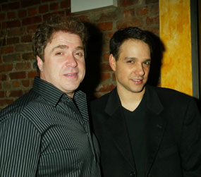 Rispoli with Ralph Macchio at the opening night partyfor Magic Hands Freddy(Photo © Joseph Marzullo)