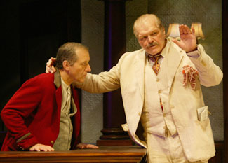 Joe Grifasi and Brian Dennehy in Hughie(Photo © T. Charles Erickson)