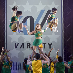 Taylor Louderman (center) and company in Bring It On: The Musical (© Craig Schwartz)