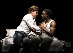 Hunter Foster and Vladimir Versailles in Burning