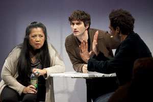 Mia Katigbak, Noel Joseph Allain, and Carl Hancock Rux