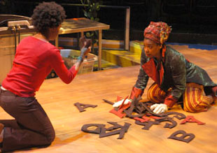 April Matthis and Tamilla Woodard inSans-coulottes in the Promised Land(Photo © Harlan Taylor)