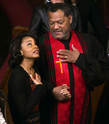 Anika Noni Rose and Laurence Fishburne in Have a Little Faith (© Erik Heinila)