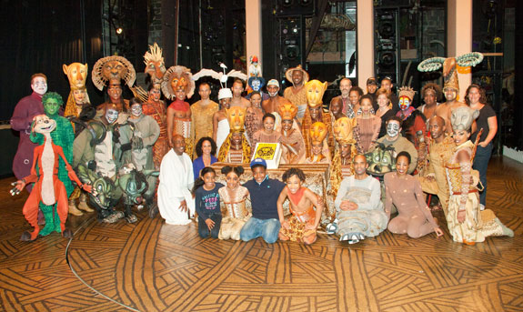 The company of Broadway's The Lion King
