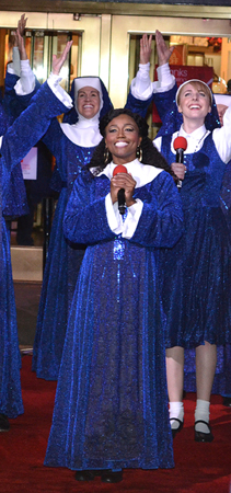 Patina Miller and members of the Sister Act Company