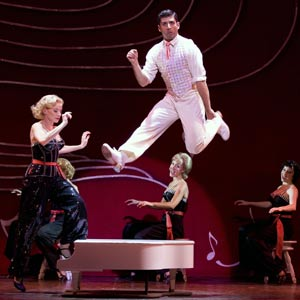 Meredith Patterson, Tony Yazbeck, Beth Johnson Nicely and Megan Kelley in White Christmas