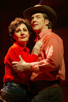 Judy McLane and Steve Blanchardin Johnny Guitar(Photo © Joan Marcus)