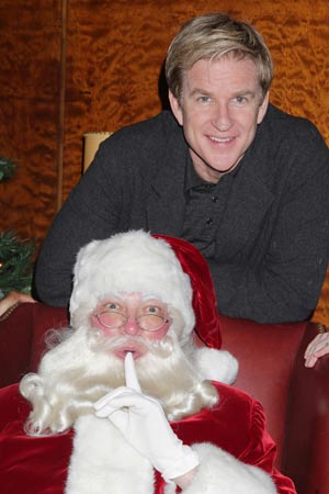 Matthew Modine with Santa