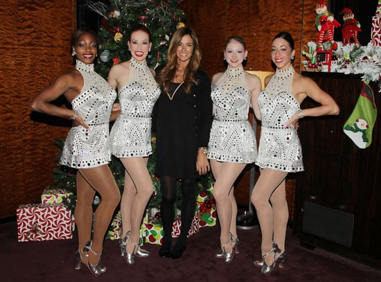 Kelly Bensimon with Rockettes