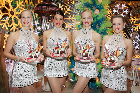 Rockettes Christine Walsh, Synthia Link, Alana Niehoff and Katie Russell