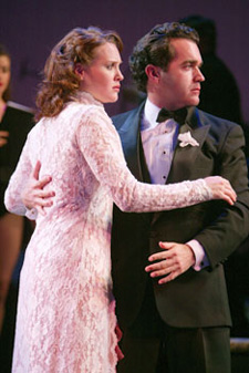 Jennifer Laura Thompson andBrian d'Arcy James in Pardon My English(Photo © Joan Marcus)