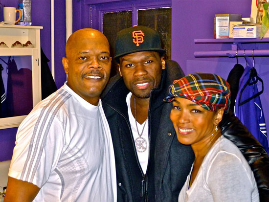 Samuel L. Jackson, 50 Cent, and Angela Bassett