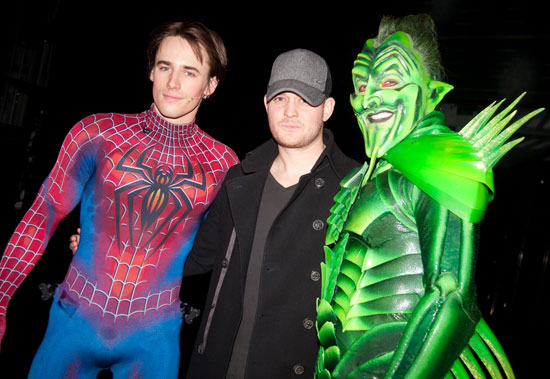 Reeve Carney, Michael Bublé, and Patrick Page (© Peter James Zielinski)