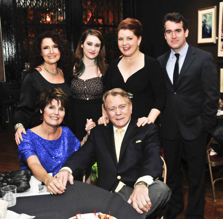 BACK:Melissa Manchester, Emma Hunton, Klea Blackhurst, Brian d'Arcy James