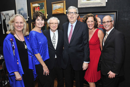 Nancy Rhodes, Lucie Arnaz, Sheldon Harnick, Marvin Hamlisch, Karen Ziemba, and Daniel De Siena