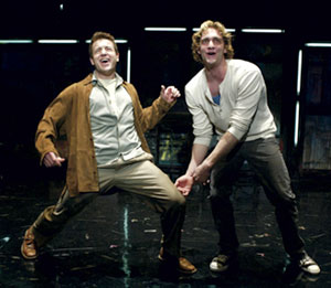 Stephen Bienskie and Colin Hanlon in tick, tick...BOOM!(Photo © T. Charles Erickson)