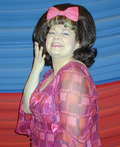 Kathy Brier as Tracy Turnblad(Photo © Michael Portantiere)