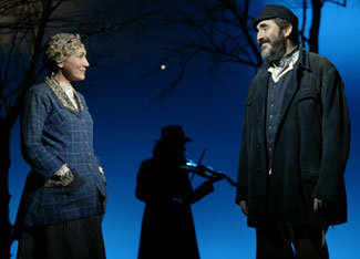Randy Graff and Alfred Molina in Fiddler on the Roof(Photo © Carol Rosegg)