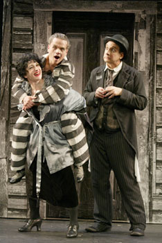 Megan Byrne, Ken Jennings, andBilly van Zandt in Silent Laughter(Photo © Carol Rosegg)