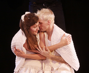 Juliette Trafton and Aaron Carter in The Fantasticks