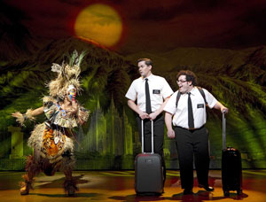 Rema Webb, Andrew Rannells, and Josh Gad