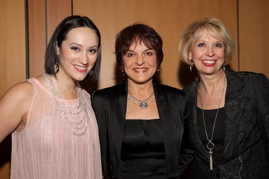 Eden Espinosa, Priscilla Lopez and Julie Halston