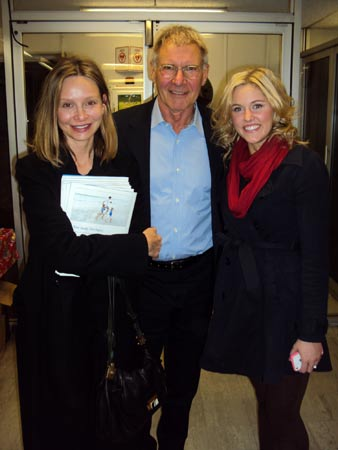 Calista Flockhart, Harrison Ford, and Taylor Louderman