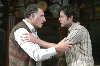 Judd Hirsch and Omar Metwally in Sixteen Wounded(Photo © Joan Marcus)