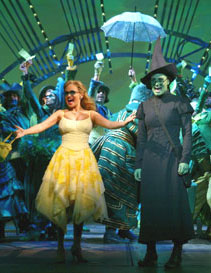 Kristin Chenoweth and Idina Menzelin Wicked(Photo © Joan Marcus)