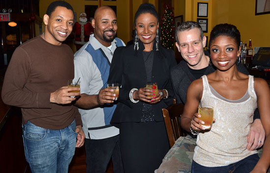 Derrick Baskin, James Monroe Iglehart, B. Smith, Adam Pascal, and Montego Glover