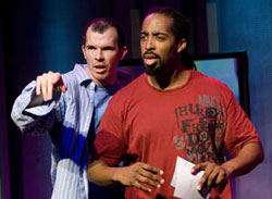 Steve Connell and Sekou (tha misfit) in The Word Begins (© Scott Suchman)
