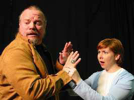 Joseph Zamparelli, Jr. and Karen Woodward Masseyin Den of Iniquity(Photo © Robert Massey)