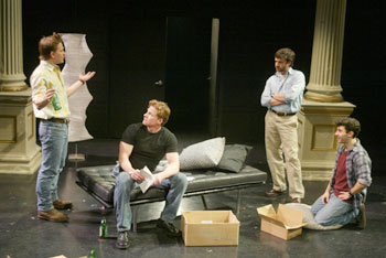 McCaleb Burnett, Mark Dobies, Raúl Esparza, and Fred Bermanin The Normal Heart(Photo © Carol Rosegg)