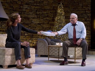 Rachel Griffiths and Stacy Keach in Other Desert Cities (© Joan Marcus)