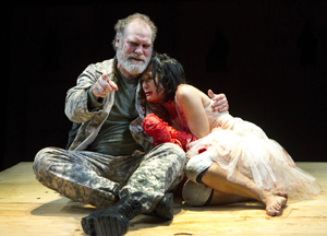 Jay O. Sanders and Jennifer Ikeda in Titus Andronicus (© Joan Marcus)