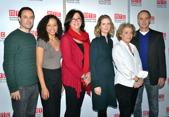 Greg Keller, Carra Patterson, Lynne Meadow, Cynthia Nixon, Suzanne Bertish, and Michael Countryman